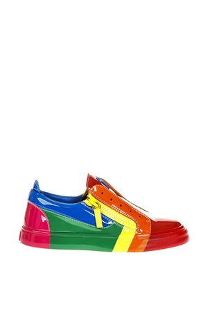 RNBW MULTICOLOR PATENT LEATHER SNEAKERS FW 2018 GIUSEPPE ZANOTTI | 55 | RW80065LOGOBALL001