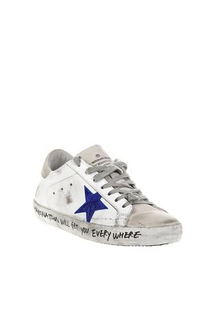 WHITE VINTAGE SUPERSTAR SNEAKERS WITH SUEDE DETAILSFW 2018 GOLDEN GOOSE DELUXE BRAND | 55 | G33MS5901H36