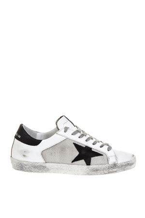 WHITE NYLON PANELS SUPERSTAR IN LEATHER FW 2018 GOLDEN GOOSE DELUXE BRAND | 55 | G33MS5901L26
