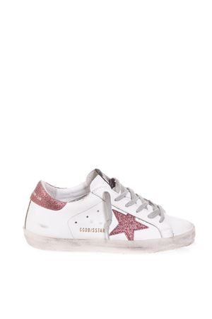 SUPERSTAR WHITE & FUCHSIA LEATHER SNEAKERS FW 2018 GOLDEN GOOSE DELUXE BRAND | 55 | G33WS5901H24