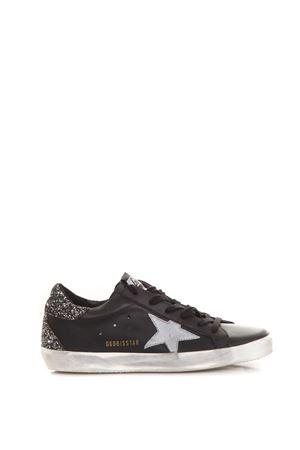 BLACK SUPERSTAR SNEAKERS IN LEATHER WITH SILVER GLITTER DETAILS FW 2018 GOLDEN GOOSE DELUXE BRAND | 55 | G33WS5901H67
