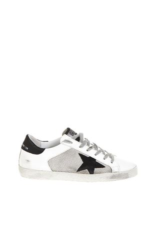 SUPERSTAR WHITE LEATHER & NYLON SNEAKERS FW 2018 GOLDEN GOOSE DELUXE BRAND | 55 | G33WS5901L26