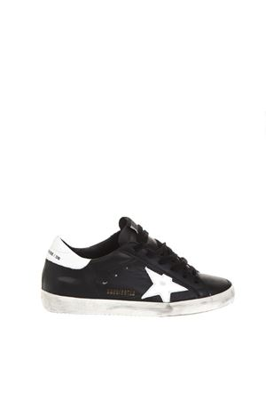 SUPERSTAR BLACK LEATHER & NYLON SNEAKERS FW 2018 GOLDEN GOOSE DELUXE BRAND | 55 | G33WS5901L27