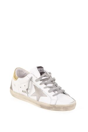 SUPERSTAR WHITE & GOLD LEATHER SNEAKERS FW 2018 GOLDEN GOOSE DELUXE BRAND | 55 | G33WS5901L66