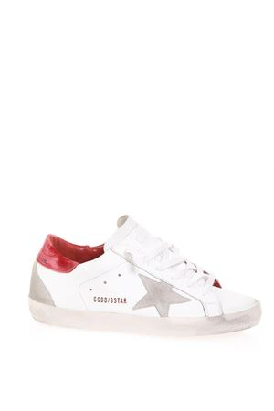 SUPERSTAR WHITE & RED LEATHER SNEAKERS FW 2018 GOLDEN GOOSE DELUXE BRAND | 55 | G33WS5901L81