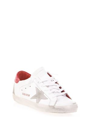 SNEAKERS SUPERSTAR BIANCA E ROSSO IN PELLE AI 2018 GOLDEN GOOSE DELUXE BRAND | 55 | G33WS5901L81