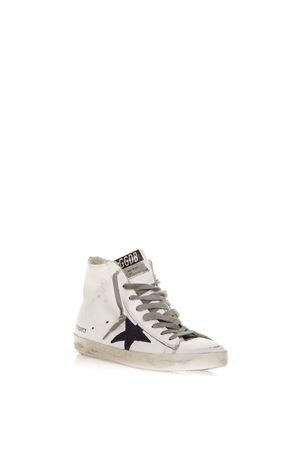 FRANCY ZIPPED WHITE SNEAKER IN LEATHER FW 2018 GOLDEN GOOSE DELUXE BRAND | 55 | G33WS5911B39