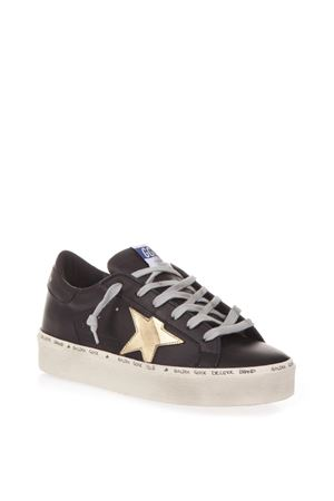 HI STAR BLACK LEATHER SNEAKERS FW 2018 GOLDEN GOOSE DELUXE BRAND | 55 | G33WS9451A6