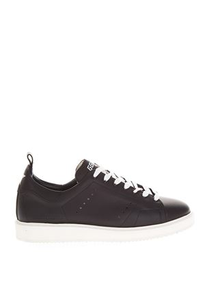 BLACK STARTER SNEAKERS IN LEATHER FW 2018 GOLDEN GOOSE DELUXE BRAND | 55 | GCOMS6311A4