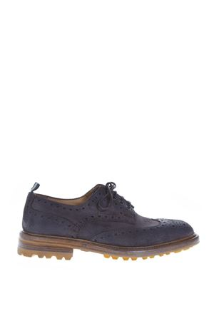 BLU LEATHER LACE-UP SHOES WITH BROGUE FW 2018 GREEN GEORGE | 208 | 0004LIGHT180