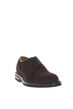 DARK BROWN SUEDE LACE UP SHOES FW 2018 GREEN GEORGE | 208 | 1207LIGHT181