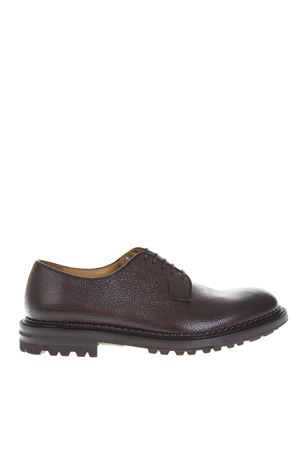BROWN GRAINED LEATHER LACE-UP SHOES FW 2018 GREEN GEORGE | 208 | 2010CHICCO653