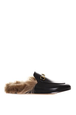 SLIPPERS PRINCETOWN IN PELLE NERA AI 2018 GUCCI | 110000060 | 397749DKHH01063