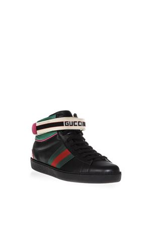 SNEAKERS ACE HIGH TOP NERA IN PELLE AI 2018 GUCCI | 55 | 5234720FIW01079