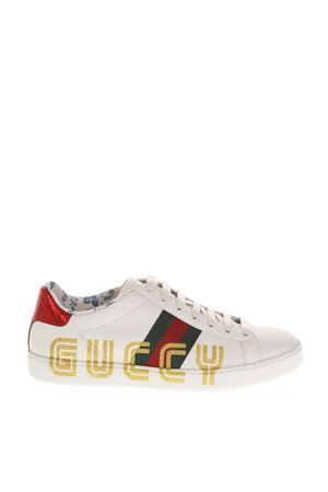 ACE WHITE LEATHER SNEAKERS WITH GUCCY LOGO FW 2018 GUCCI | 55 | 5252680G2D09072