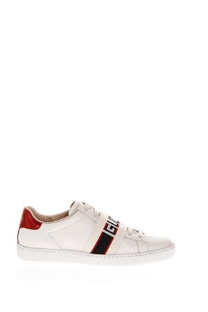 WHITE LEATHER RIBBON SNEAKERS FW 2018 GUCCI | 55 | 5252690FIV09086