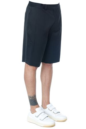 BLACK COLOR WOOL LOGO WAISTBAND SHORTS FW 2018 HELMUT LANG | 110000034 | I05HM2011001