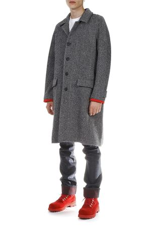 GREY COTTON-WOOL COAT FW 2018 HILFIGER COLLECTION | 31 | RE0RE000081001