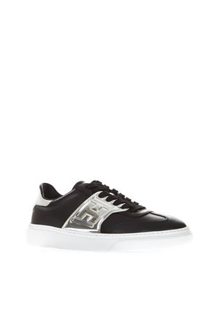 BLACK LEATHER SNEAKERS WITH EMBOSSED LOGO FW 2018 HOGAN CAPSULE | 55 | GYW3650BA70I6W0353