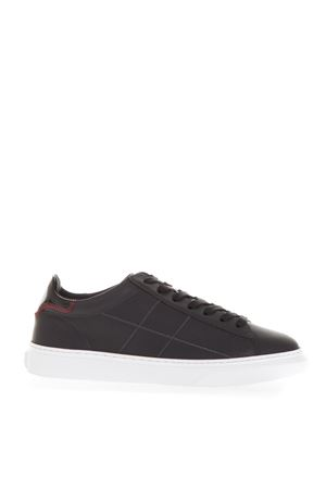 BLACK LACED UP SNEAKERS IN LEATHER FW 2018 HOGAN | 55 | HXM3650K694JC6444I