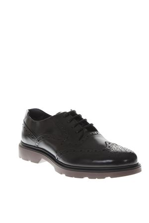 BLACK LEATHER DERBY SHOES FW 2018 HOGAN | 208 | HXM3930AM106Q69999