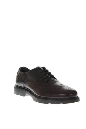 BLACK LEATHER DERBY SHOES FW 2018 HOGAN | 208 | HXM3930AM10JFU415A