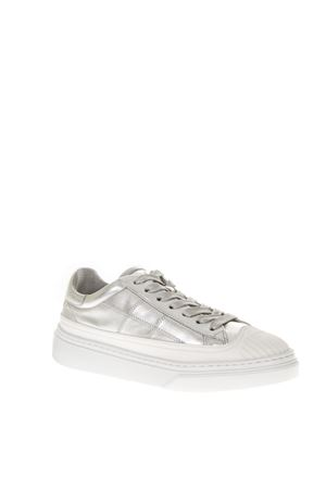 LOW-TOP LEATHER SILVER SNEAKERS FW 2018 HOGAN | 55 | HXW3650AT00IK1B200