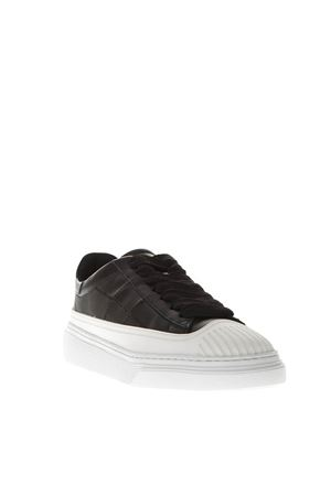 BLACK LOW-TOP LEATHER SNEAKERS FW 2018 HOGAN | 55 | HXW3650AT00JCWB999