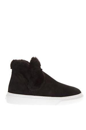 BLACK SUEDE ANKLE BOOTS FW 2018 HOGAN | 52 | HXW3660AO30JFHB999