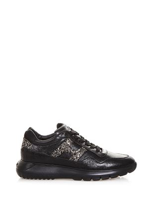 BLACK INTERACTIVE SHOES WITH GLITTER DETAILS FW 2018  HOGAN | 55 | HXW3710AP20JI60LKJ