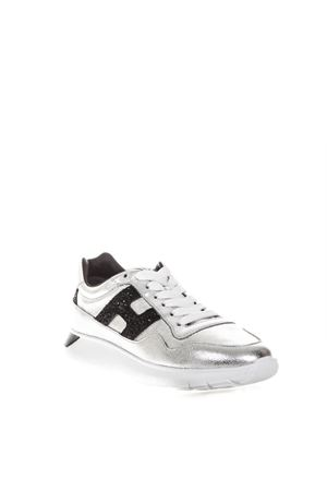 SILVER GLITTERED INTERACTIVE SHOES IN LEATHER FW 2018  HOGAN | 55 | HXW3710AP20JI7303C