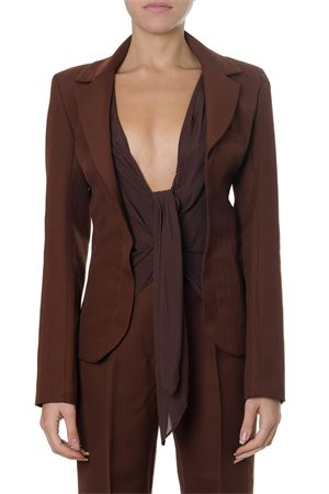 FRONT TIE BROWN COTTON-WOOL BLEND BLAZER FW 2018 JACQUEMUS | 14 | 183JA01-18305850BROWN