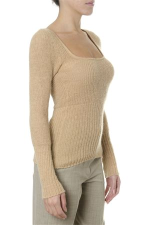 BEIGE RIBBED KNIT SWEATER FW 2018 JACQUEMUS | 16 | 183KN0260130BEIGE