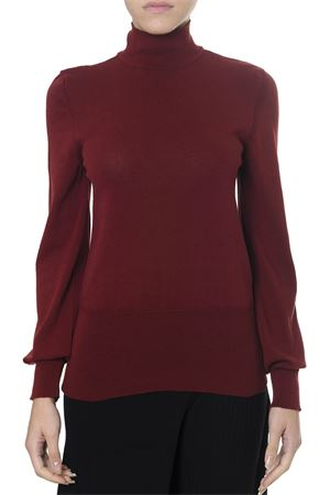 DARK RED COTTON SWEATER WITH CUT-OUT BACK DETAIL FW 2018 JACQUEMUS | 16 | 183KN26-18361480DARK RED
