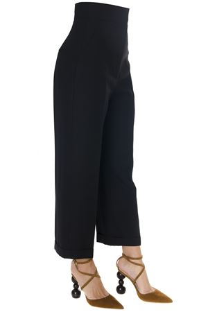 BLACK CROPPED HIGH WAISTED TROUSERS IN WOOL BLEND FW 2018 JACQUEMUS | 8 | 183PA02-18305990BLACK