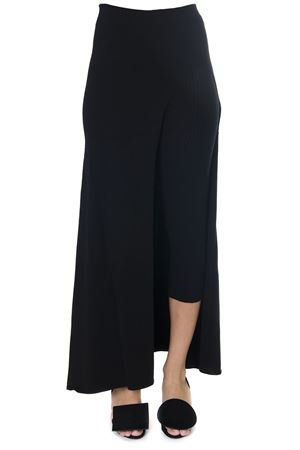 BLACK ASYMMETRIC LEGGINGS-SKIRT IN VISCOSE FW 2018 JACQUEMUS | 26 | 184KN38-184759901