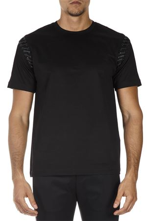 BLACK COTTON T-SHIRT FW 2018 LES HOMMES | 15 | LHF803LF80019000