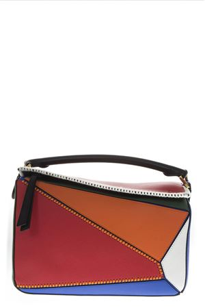 PUZZLE SMALL MULTICOLOR LEATHER BAG 