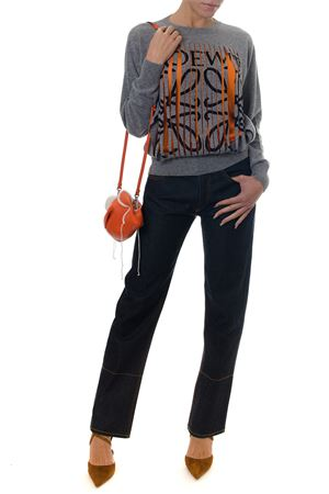 GRAY CASHMERE SWEATER WITH CONTRASTING LOGO PRINT FW 2018 LOEWE | 16 | D3289650SM11120