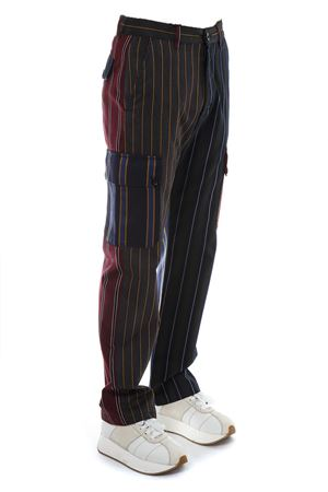 MULTICOLOR PATCHWORK STRIPE COTTON TROUSERS FW 2018 LOEWE | 8 | H2282311IB19990