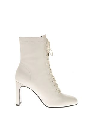 LULA WHITE  LEATHER BOOTS FW 2018 LOLA CRUZ | 52 | 104T10BK-I18BOTINOFF WHITE