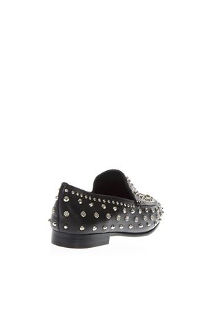 BLACK LEATHER STUDS LOAFER FW 2018 LOLA CRUZ | 130 | 123Z10BK-I18LOAFERNEGRO