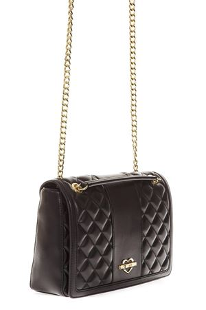 BLACK QUILTED BAG IN FAUX LEATHER FW 2018 LOVE MOSCHINO | 2 | JC4000PP16LAUNI0000