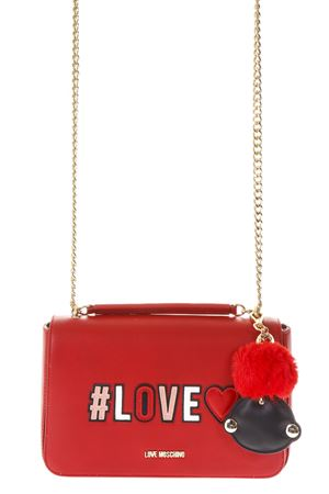 SMALL RED BAG WITH LOCKET DETAIL FW 2018/2019 LOVE MOSCHINO | 2 | JC4068PP16LKUNI0500