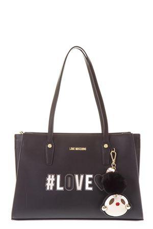 BLACK SHOPPING BAG WITH KEY RING FW 2018/2019 LOVE MOSCHINO | 2 | JC4070PP16LKUNI0000