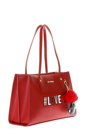 RED SHOPPING BAG WITH KEY RING FW 2018/2019 LOVE MOSCHINO | 2 | JC4070PP16LKUNI0500