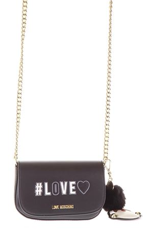 SMALL BLACK LOVE MOSCHINO BAG WITH KEY RING DETAIL FW 2018/2019 LOVE MOSCHINO | 2 | JC4074PP16LKUNI0000