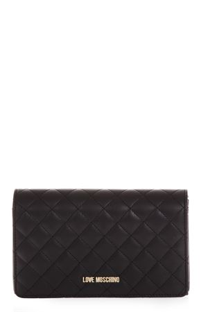 BLACK COLOR QUILTED FAUX LEATHER BAG FW 2018 LOVE MOSCHINO | 2 | JC4095PP16LOUNI0000