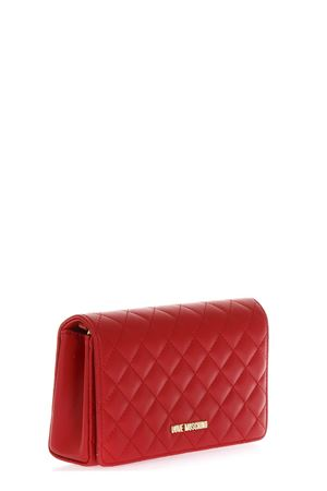 RED QUILTED FAUX LEATHER BAG FW 2018 LOVE MOSCHINO | 2 | JC4095PP16LOUNI0500
