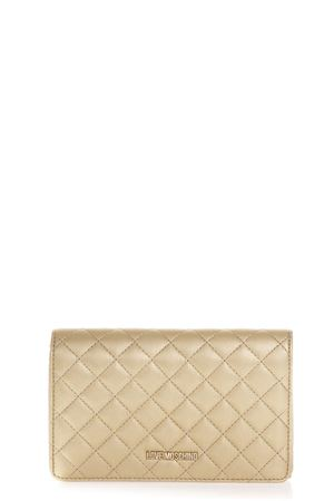 GOLD COLOR QUILTED FAUX LEATHER BAG FW 2018 LOVE MOSCHINO | 2 | JC4095PP16LOUNI0901